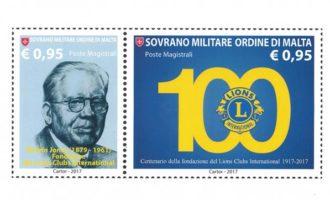 Centenario Lions: un francobollo dall'Ordine di Malta