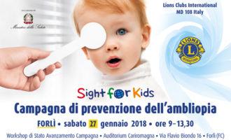 27 Gennaio: a Forlì parliamo di Sight for Kids