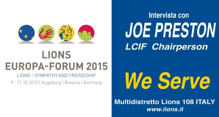 JOE PRESTON LCIF LIONS CLUBS INTERNATIONAL FOUNDATION