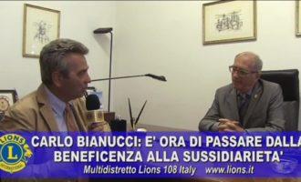 Carlo Bianucci: nella Sussidiarietà il futuro dei Lions