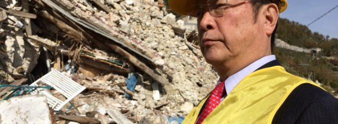 Il Presidente della Fondazione Internazionale Lions LCIf Jitsuhiro Yamada visita le popolazioni terremotate