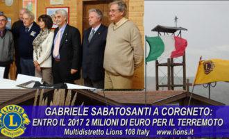 Gabriele Sabatosanti: 2 milioni di euro per il terremoto entro il 2017