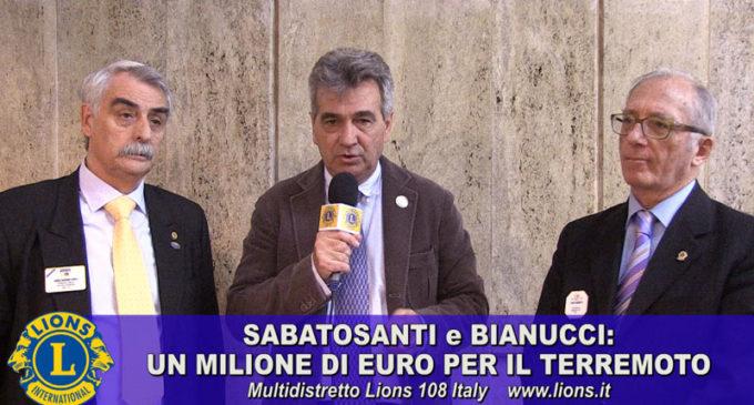 Un milione di euro per il terremoto: Sabatosanti e Bianucci lanciano la sfida