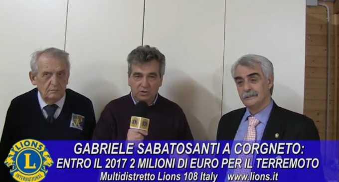 Gabriele Sabatosanti: raccogiamo 2 milioni di euro pro Terremotrati!