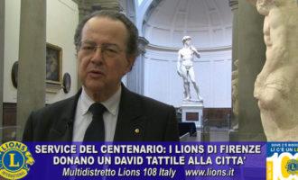 Firenze: dai Lions Club un David di Michelangelo per i non vedenti