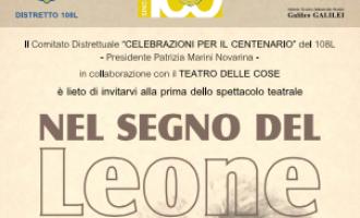 'Nel segno del Leone' – Evento Teatrale per il Centenario Lions a favore dei terremotati