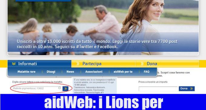 AidWeb ha avvicinato i Lions alle Malattie Rare