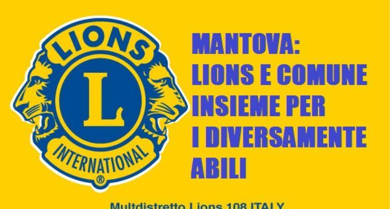 lions mantova parcheggi handicap