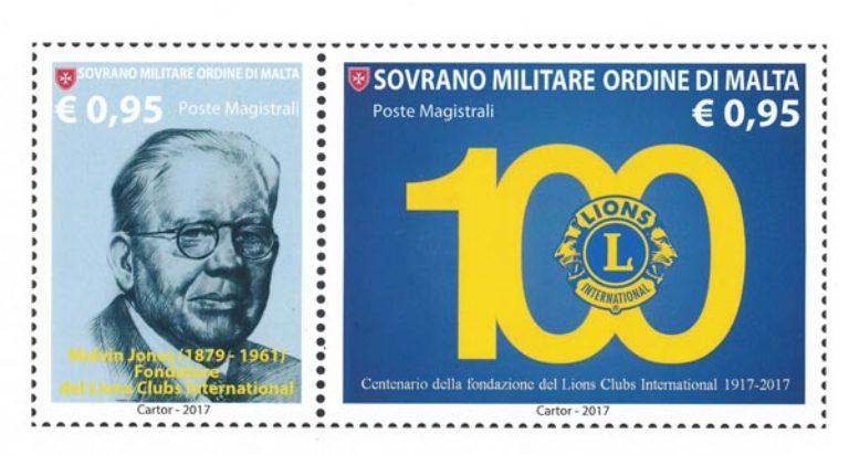 lions francobollo ordine di malta centenario