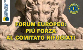 Il Forum Europeo rafforza il Comitato per i Rifugiati aprendo anche ai Leo