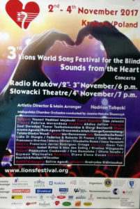 Lions World Song Festival for the Blind cracovia