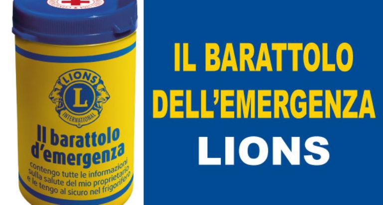 barattolo emergenza lions service nazionale lions italia