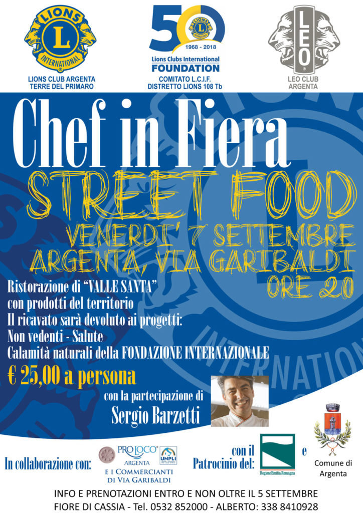lions club argenta chef in fiera 2018