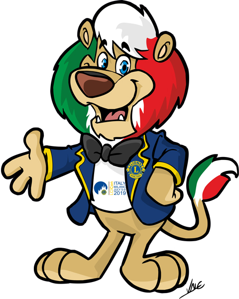 mascotte  Ecco Leonardo: mascotte di Milano 2019 - Lions Club International ...
