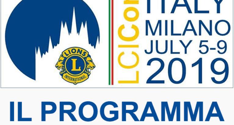 Convention Internazionale Lions Milano 2019 Programma