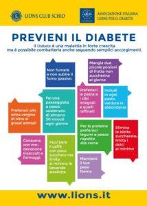 lions club schio prevenzione diabete