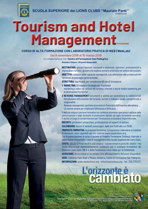 scuola lions maurizio panti corso tourism and hotel management