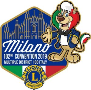 convention lions milano 2019 pin