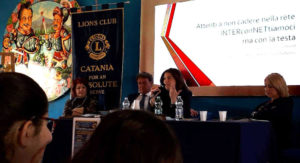 lions club catania for an absolute serve interconnettiamoci ma con la testa cyberbullismo