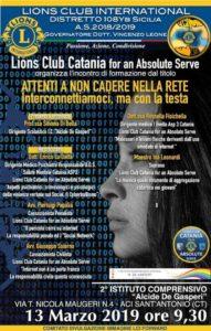 lions club catania for an absolute serve interconnettiamoci ma con la testa cyberbullismo