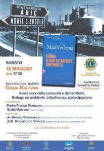 Lions Club Manfredonia Host Giulia Malavasi libro