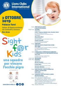 sight for kids accordo lions regione liguria