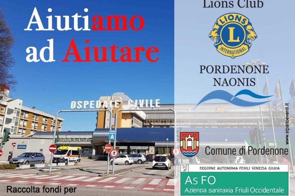 lions pordenone raccolta fondi coronavirus