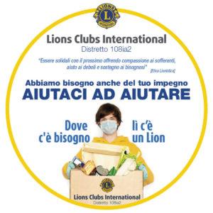 distretto lions 108Ia2 coronavirus aiutaci ad aiutare